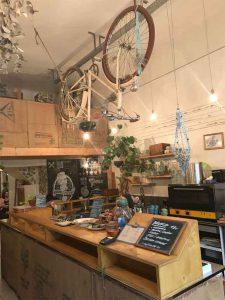 Vélo en décoration d'intérieur au Cogee