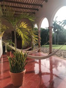 Patio de la hacienda Temozon