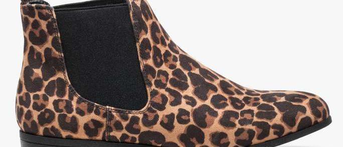 leopard bottines